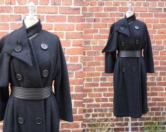 1950s Coat / Dan Millstein Coat / Vintage 50s Wool Coat