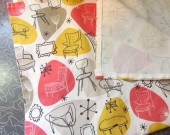 Mid Century Modern Furniture Tea Towel