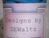 Caribbean Blue Tee Shirt Trapillo Yarn from Designs by DEwaltz