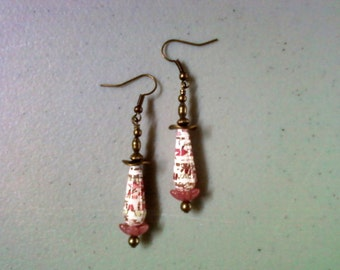 Pink, White and Brown Earrings (1954)