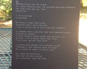 "Niina Pollari broadside for ""My Imagined Rad Death"""
