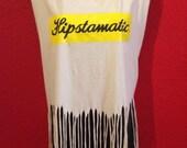 Upcycled Tshirt, Fringed Tank top, Hipstamatic SXSW