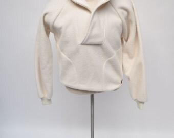 vintage mens JACKET fleece made in usat pullover sweater sweatshirt shawl collar medium