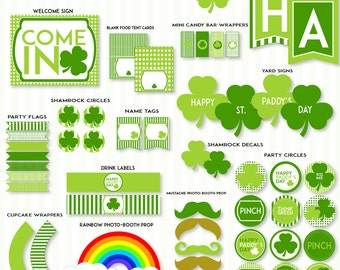 St. Patrick's Day PRINTABLE Party by Love The Day