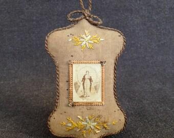 Agnus Dei. Precious antique French relics. Keepsafe treasure.