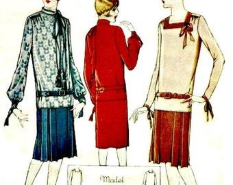 1920s Flapper Dress Pattern - RARE Roaring 20's Pattern - 1920's Misses' Slip-On Dress - McCALL 4881 - UNCUT - Factory Folded - Bust 32