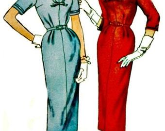 1950s Sheath Dress Pattern SIMPLICITY 2265 UNCUT & Factory-Folded Vintage Sewing Pattern Bust 35