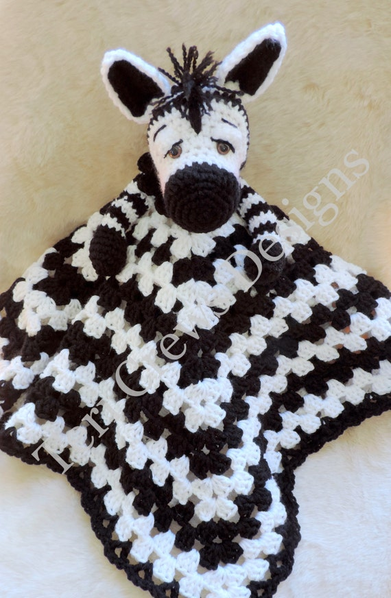 Zebra Huggy Blanket Crochet Pattern Baby Blanket, Softie, Lovey ...