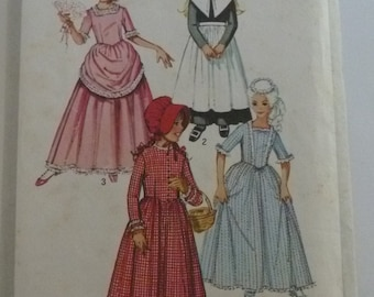 Girls Historical Dress Costume Puritan, Centennial 18th and 19th Century, Size 14 UNCUT Simplicity Pattern 9516