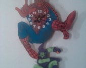 Spiderman Pendulum children's clock with swinging Green Goblin