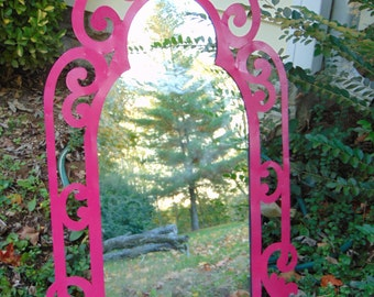 Pink Wall Mirror gothic wall mirror | etsy