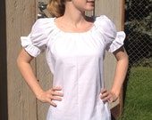 Womens (XL, 2XL, or 3XL) Renaissance Faire Short Sleeve Chemise Blouse