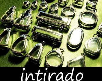 Terrarium Necklace, Intirado, Wholesale Shadow Box Pendant, Diorama, Locket Case, Reliquary, Etched, Marimo Necklace, 25pcs, BITCOIN