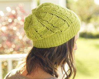 KNITTING Pattern PDF file for DK weight hat, child-adult sizes-Valerian