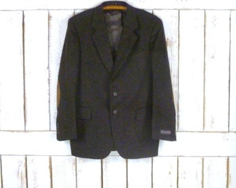Vintage dark brown wool tweed sportcoat/ wool tweed blazer jacket