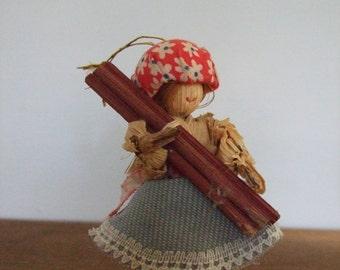 Vintage Corn Husk Doll Ornament