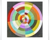 Bullseye Geometric Art Print