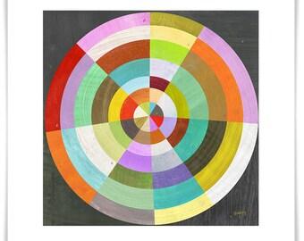 Bullseye // Modern Geometric Art Print