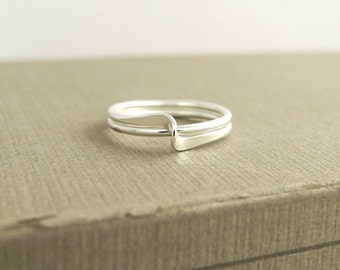 Infinity Ripple Ring, Wave Ring, Argentium Sterling Silver, Ready To Ship