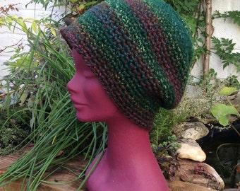 Crochet Dread Tam, Saggy Baggy Beanie Hat