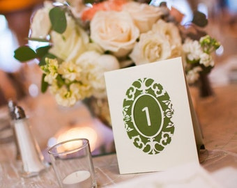 Oval Cameo Wedding Table Numbers As Seen On Style Me Pretty / Table Number Luminaries / Table Cards / Wedding Table Markers / Table Tents