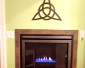 """Trinity Knot GREAT Gift Hand Forged Iron Celtic Symbol """"Trinity"""" Wall Art by VinTin"""