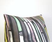 18x18 pillow cover, Stripe Pillow Cover, Decorative Pillow Cover, 18 inch Pillow Cover, pillow sham, cushion cover - Random Stripes Mint