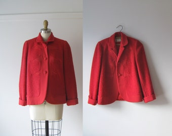 vintage 1950s jacket / 50s jacket / Cherry Pie