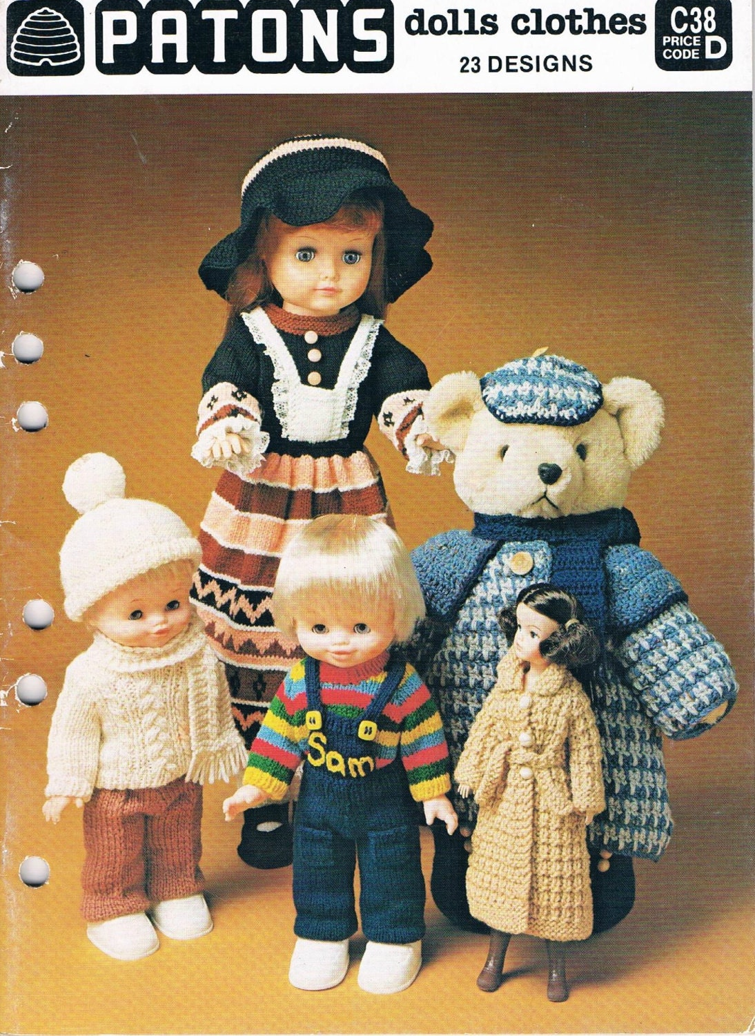 Patons Knitting Patterns For Dolls Clothes : Vintage Patons Knitted Patterns for Dolls Clothes by ...