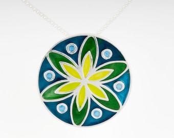 Resinate Sterling Silver Mandala Pendant: Cools