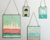 Louisville, Kentucky  // Typography Print, Giclee, Trendy Modern Nursery Decor,  Illustration, Travel Theme, Digital