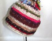 Colorful Childs Ski Hat With Pom-Pom