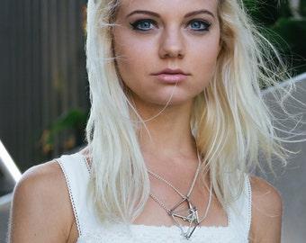 Crane necklace, dainty bird necklace, bff gift jewelry, nature jewelry, origami jewelry, make a wish statement necklace friendship necklaces