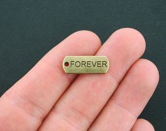 10 Forever Charms Antique Bronze Tone - BC1203
