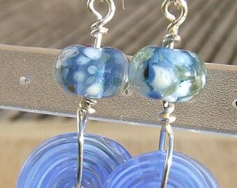 Funky Disco - lampwork bead earrings