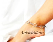 Simply Chain Southwestern Infinity Twist Silver Anklet Adjustable Chain Ankle Bracelet