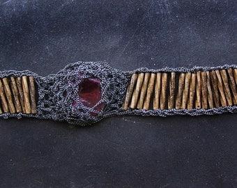 new collection - raw ruby gemstone bracelet