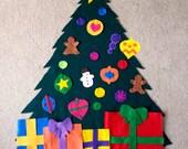 Felt Christmas Tree with storage bag - no glue