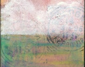 "Abstract Art Print: Cloud Print, Cloud Art, Contemporary Mixed Media, 5x5 (127mm), 8x8 (203mm) or 12x12 (305mm), ""Abstract Cloud 111"" green"