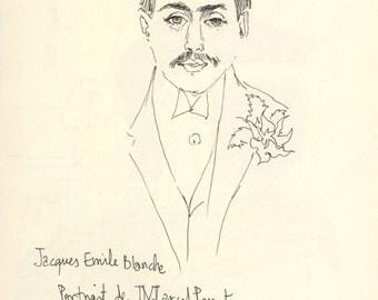 Marcel Proust Portrait /Writer portrait sketch print