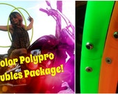 CoLoReD PoLyPrO DoUbLeS SeT // Two full size twin Hula Hoops // Custom Tubing and Diameter Options!