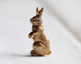 Rabbit Brooch ... Bunny Hare Brooch Easter Bunny