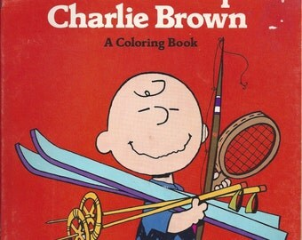 You're a Good Sport Charlie Brown Vintage Coloring Book, 1984