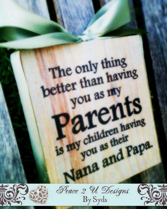 Parents Grandparents Sign , Wood Block , Personalize Customize Mimi Papa Nana Pop , The original block from  (DesignsbySyds.Etsy.com)
