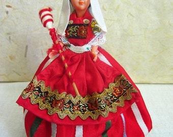French Bethmale costume doll, folk doll, vintage, France, vintagefr, South-West France