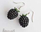 Blackberries Earrings Fruit Dangle Earrings