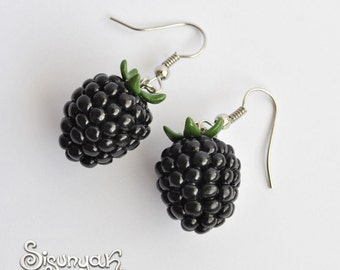 Blackberries Earrings Fruit Dangle Earrings