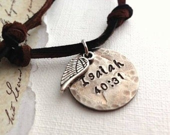 Secret Message Personalized Nickel Coin Men's Necklace