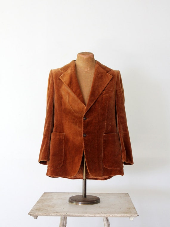 men's YSL velvet blazer, 1970s Yves Saint Laurent sportcoat