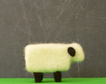 Needle Felted Sheep - chinese new year sheep baby lamb farm animals felted miniature home decor eco friendly modern white black